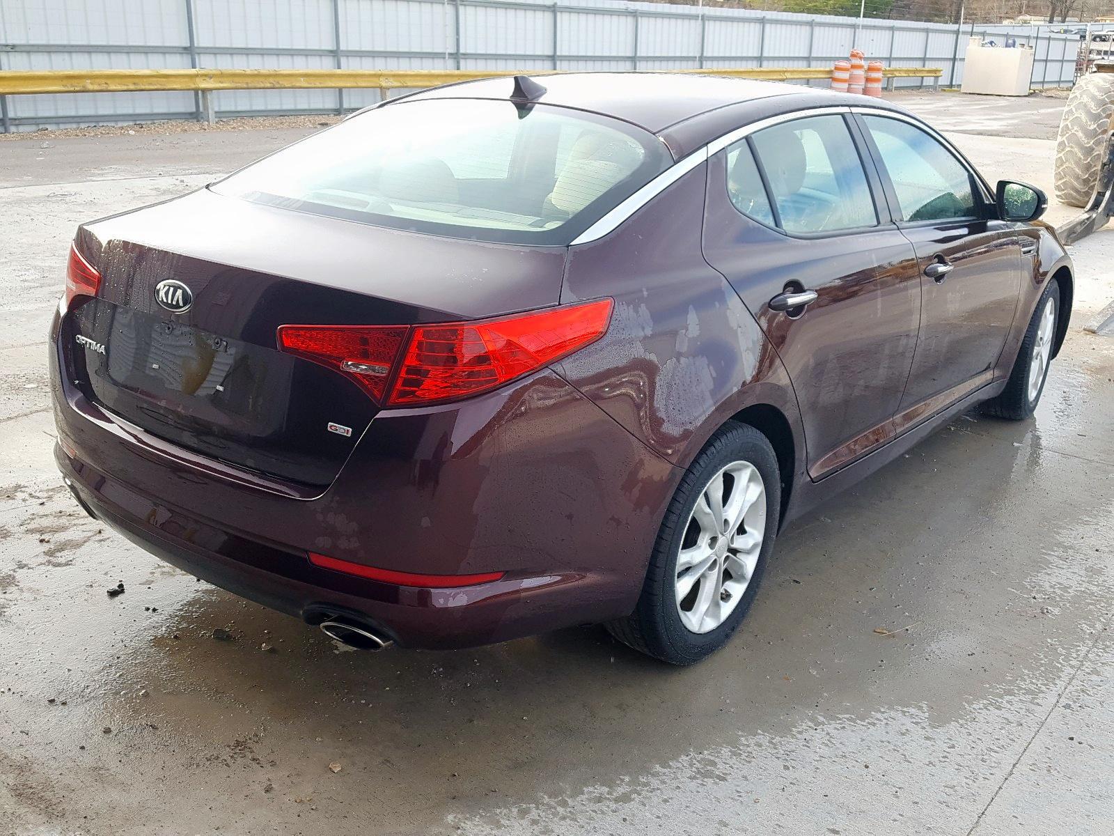 5XXGM4A74DG124007 - 2013 Kia Optima Lx 2.4L rear view