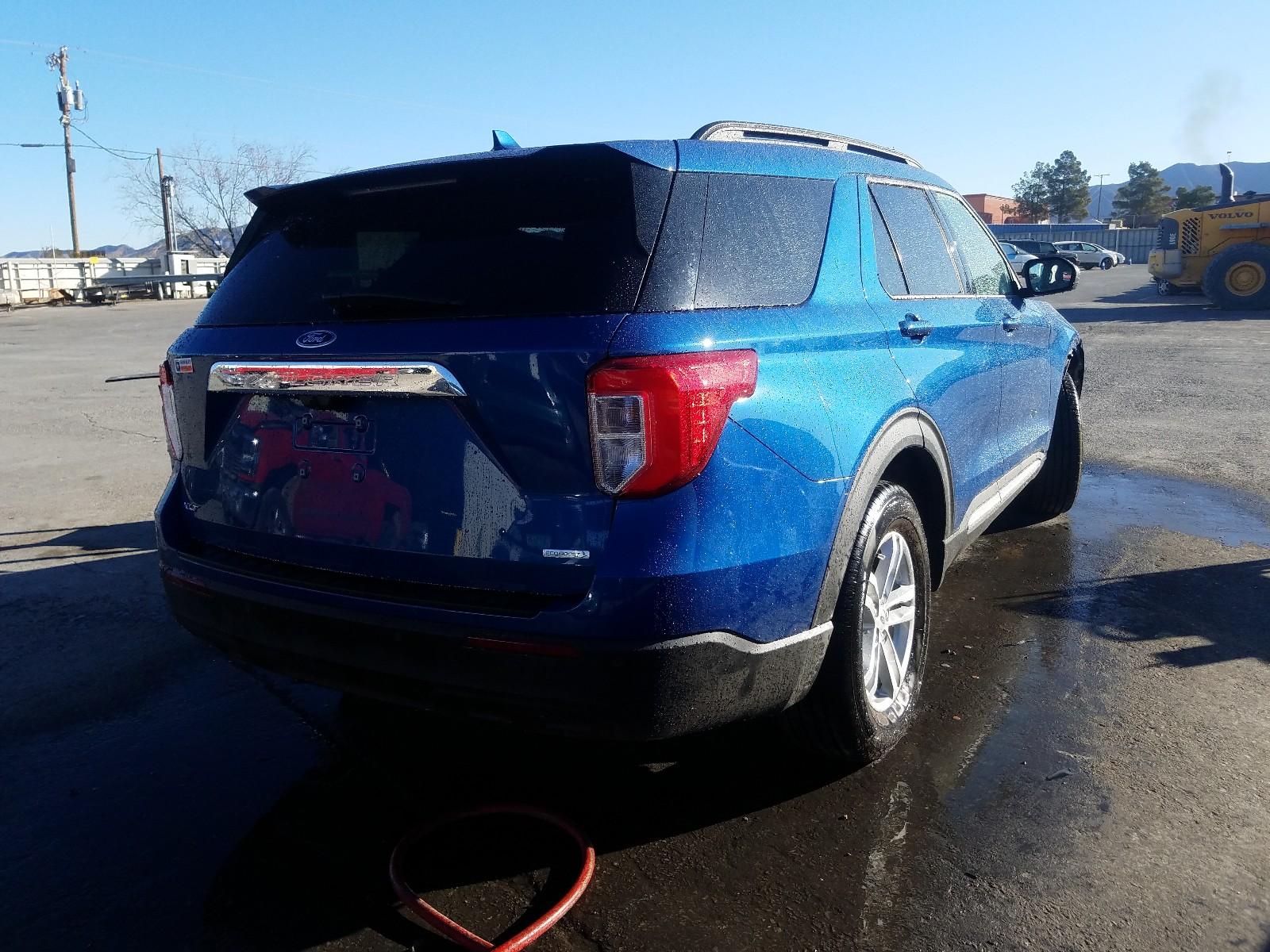 1FMSK7DH1LGB15824 - 2020 Ford Explorer X 2.3L rear view