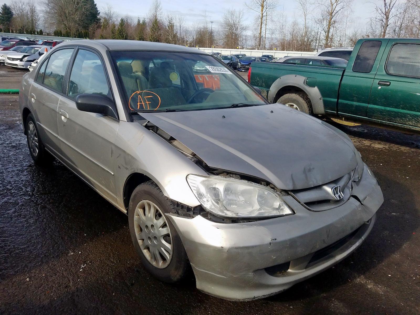 1HGES165X5L030512 - 2005 Honda Civic Lx 1.7L Left View