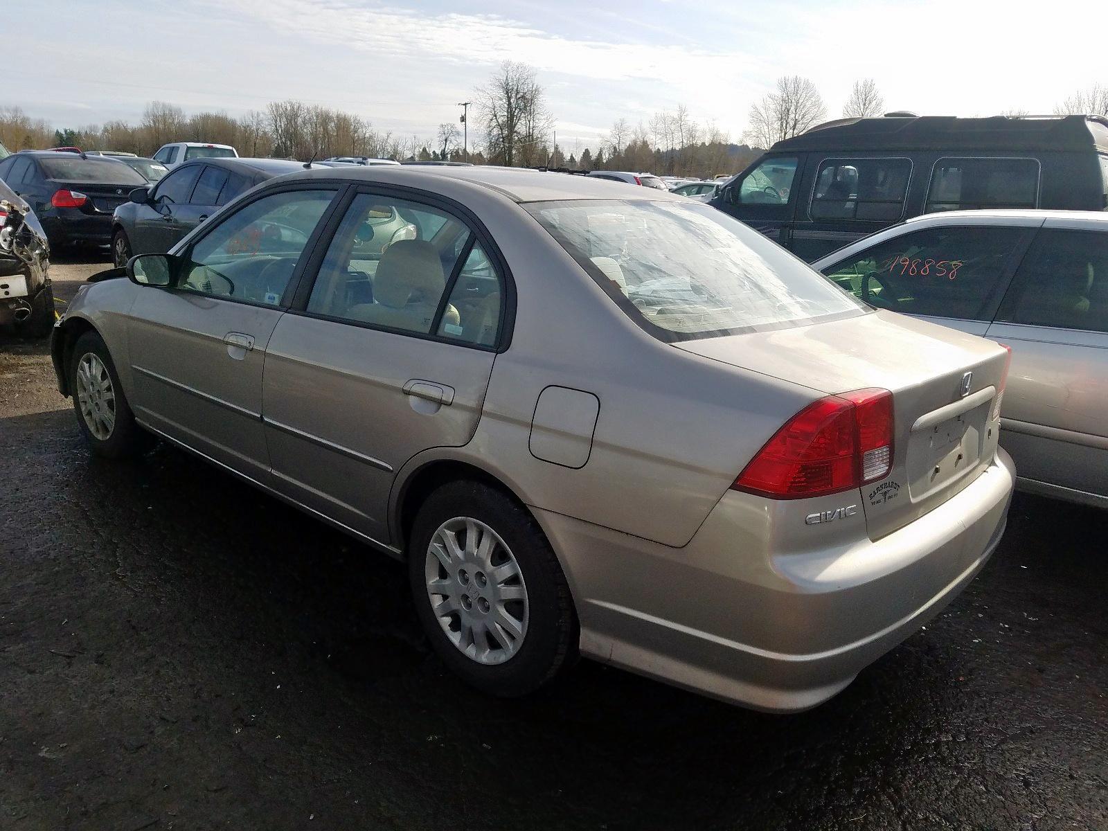 1HGES165X5L030512 - 2005 Honda Civic Lx 1.7L [Angle] View