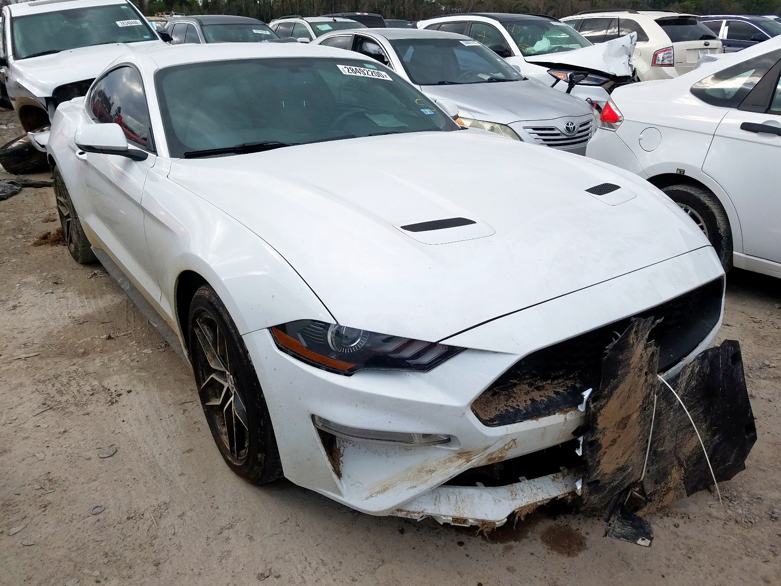 1FA6P8TH4J5115720 - 2018 Ford Mustang 2.3L Left View