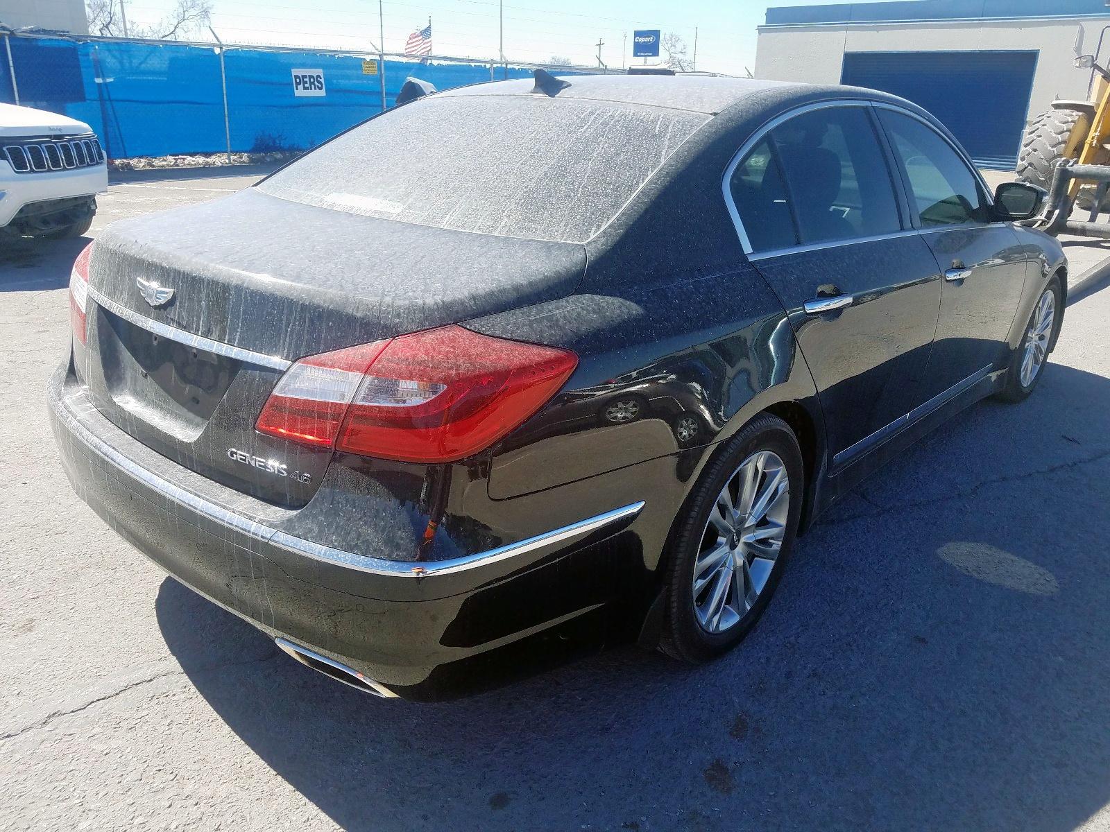 2012 Hyundai Genesis 4. 4.6L rear view