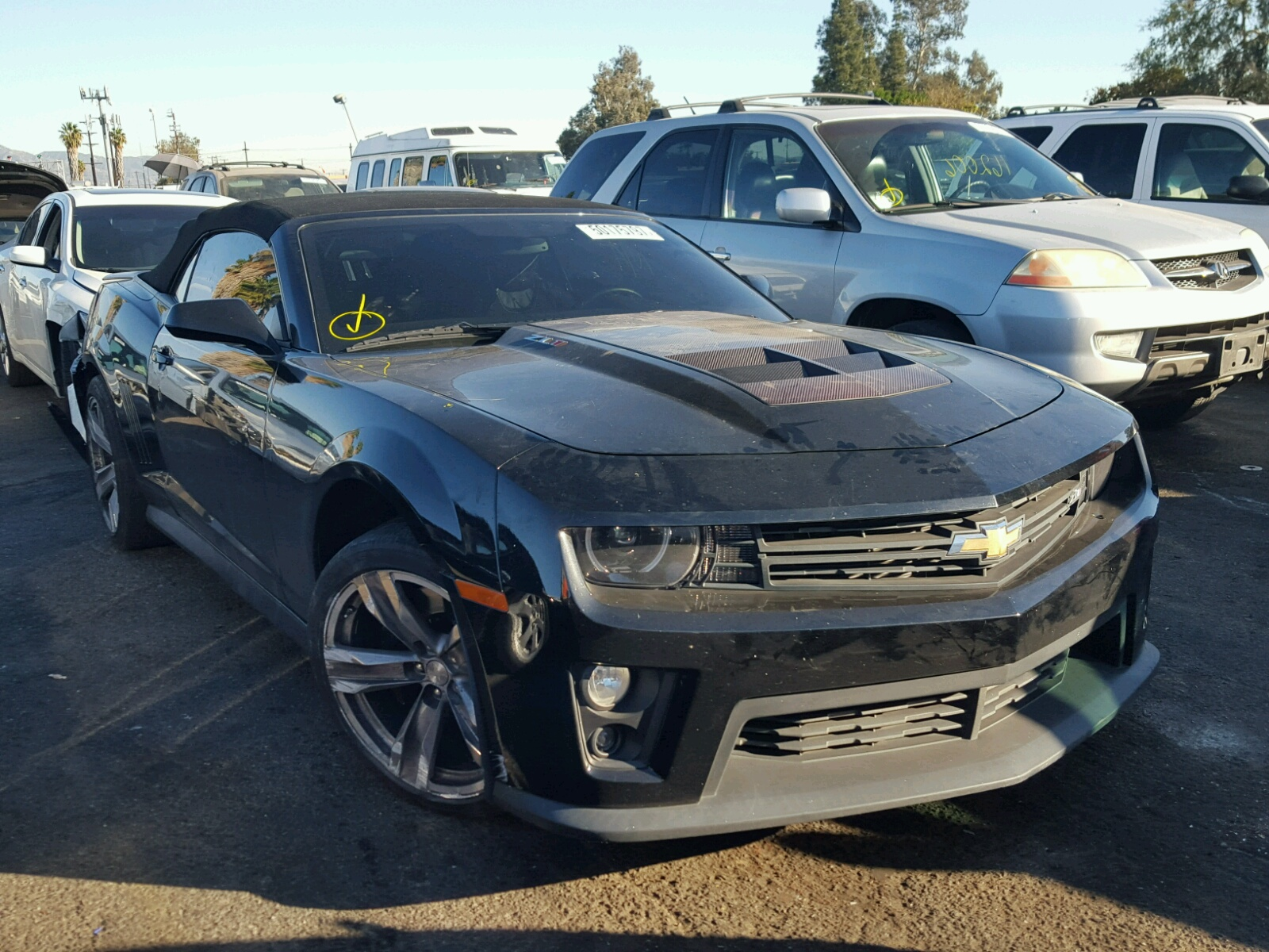 2013 Chevrolet Camaro ZL1 for sale at Copart Van Nuys CA Lot