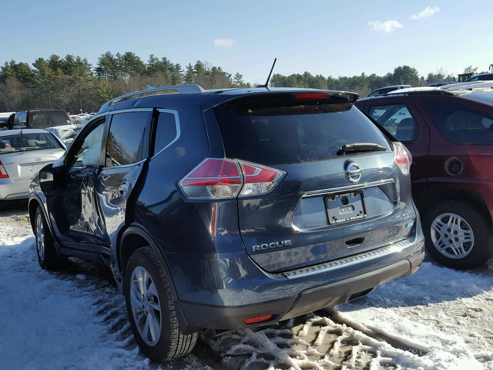 2014 Nissan Rogue S for sale at Copart Mendon MA Lot