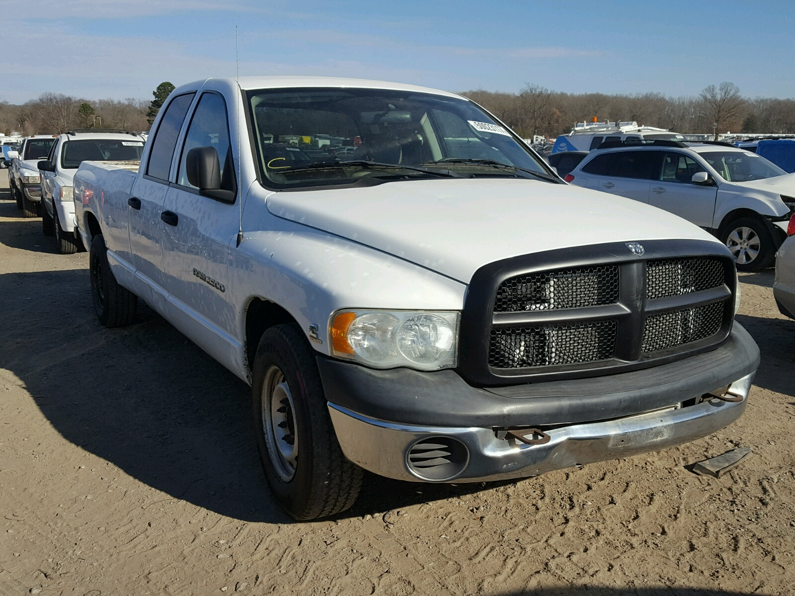 2003 dodge ram 2500 s for sale at copart conway ar lot 50023117. Black Bedroom Furniture Sets. Home Design Ideas
