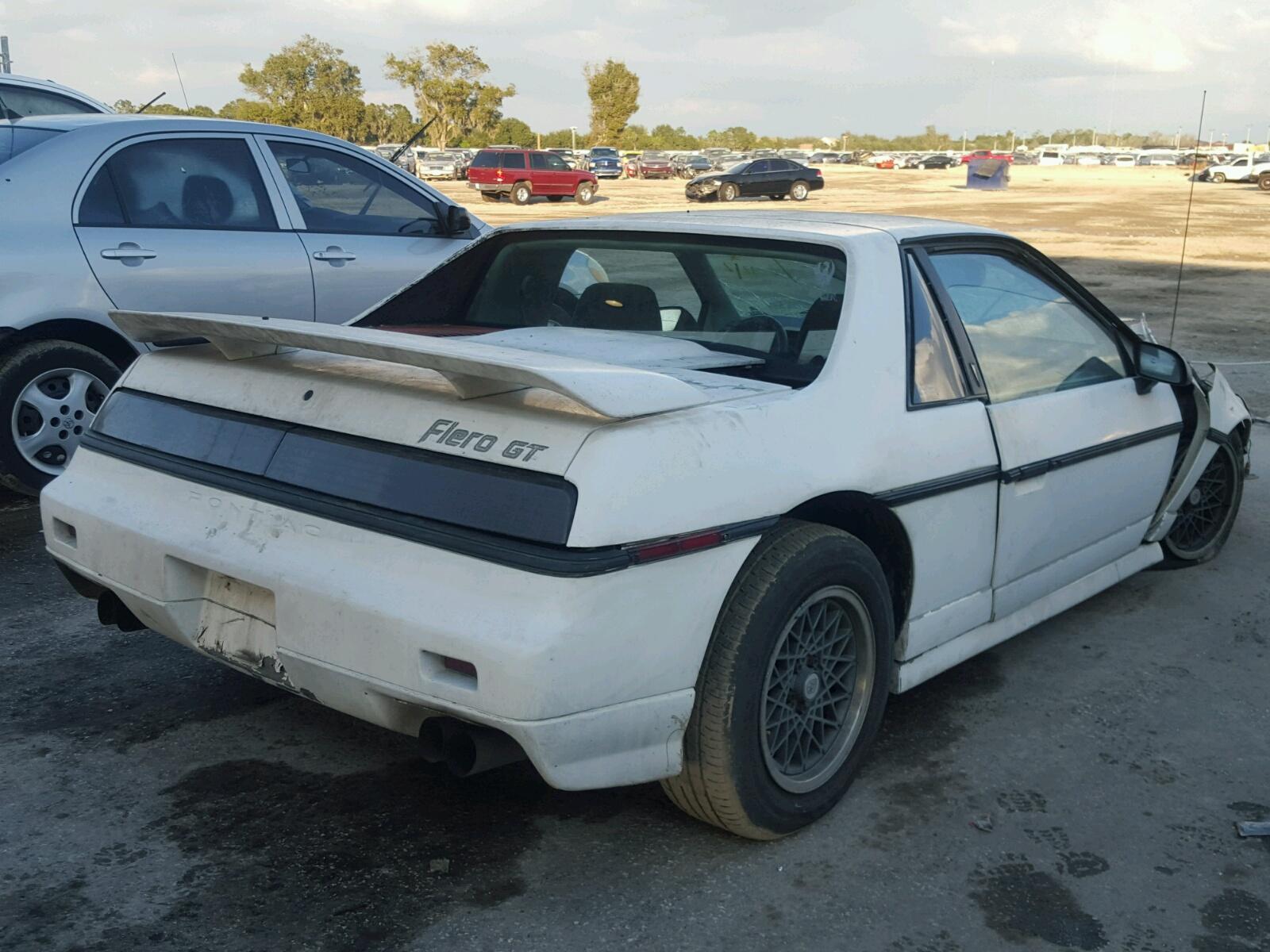 1g2pg3794fp223744 1985 White Pontiac Fiero Gt On Sale In Fl Dashboard 28l Rear View