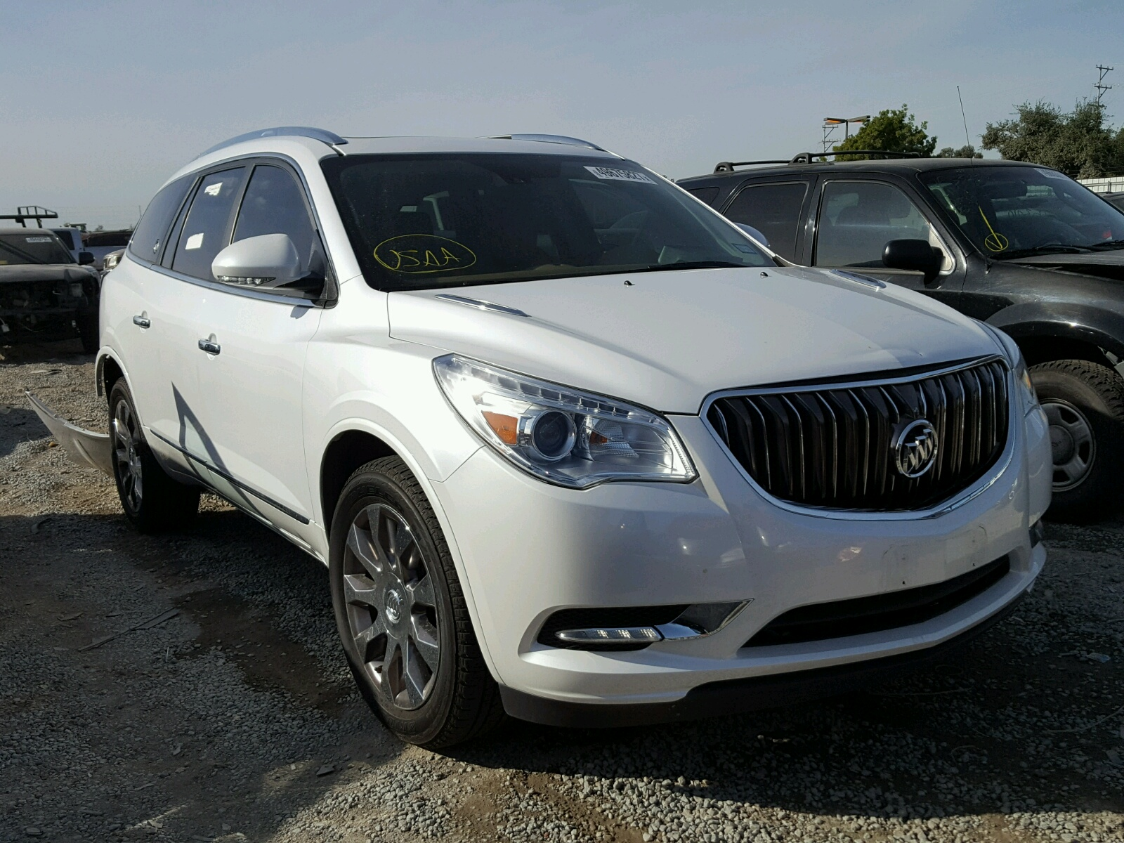 left view buick copart online auto in en ca san carfinder enclave certificate salvage diego sale on auctions white lot