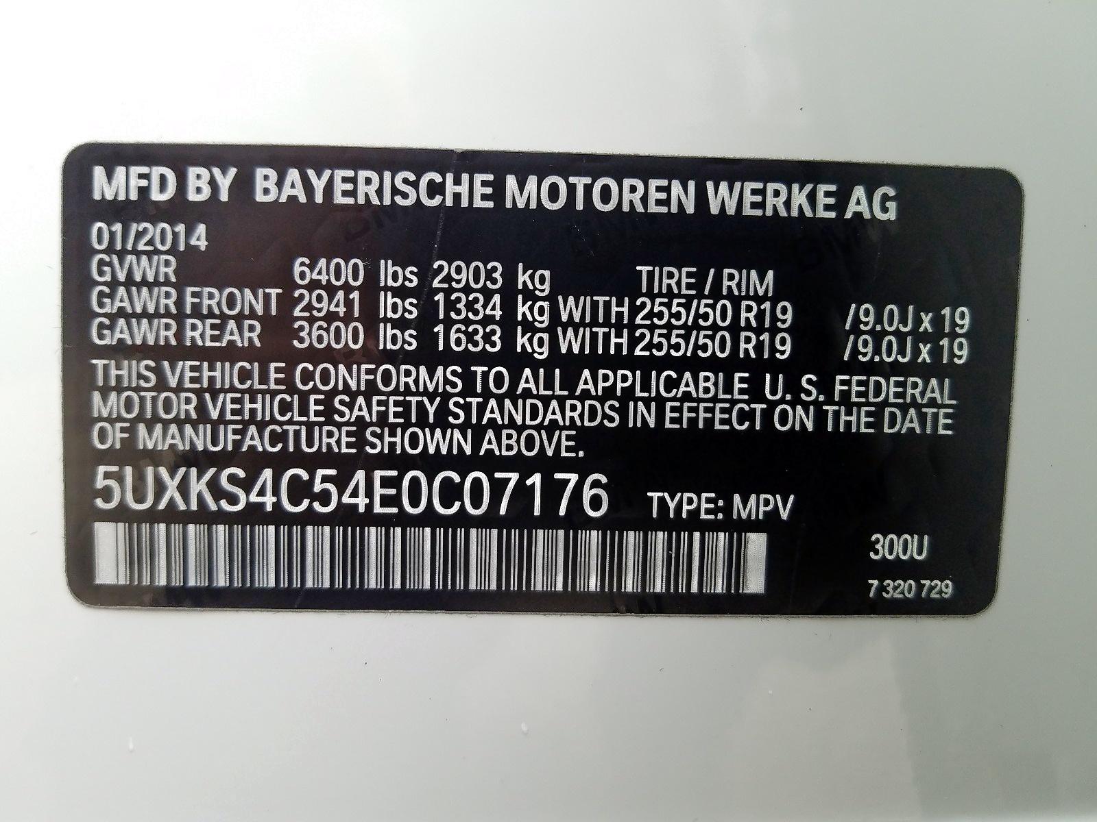 5UXKS4C54E0C07176 - 2014 Bmw X5 Xdrive3 3.0L
