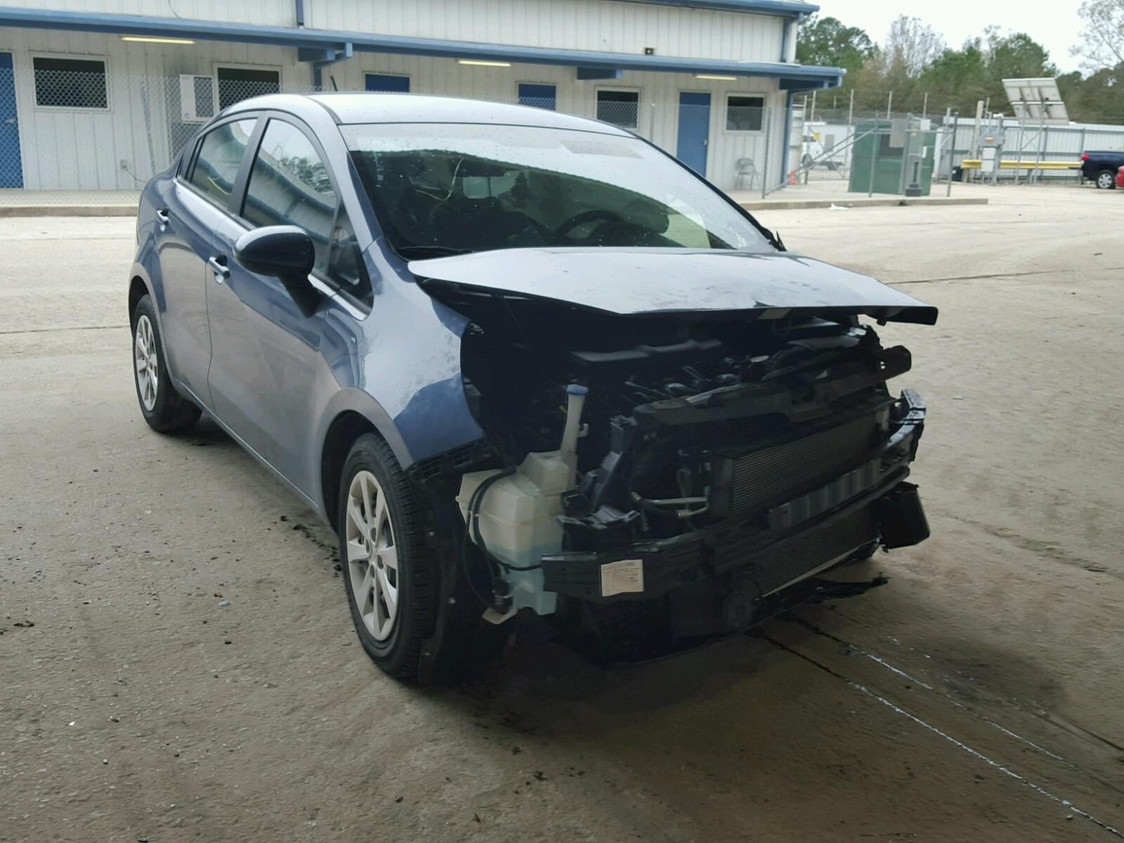 in lx salvage view la lot en cert auctions kia blue sale rio of auto on left copart online carfinder rouge baton title
