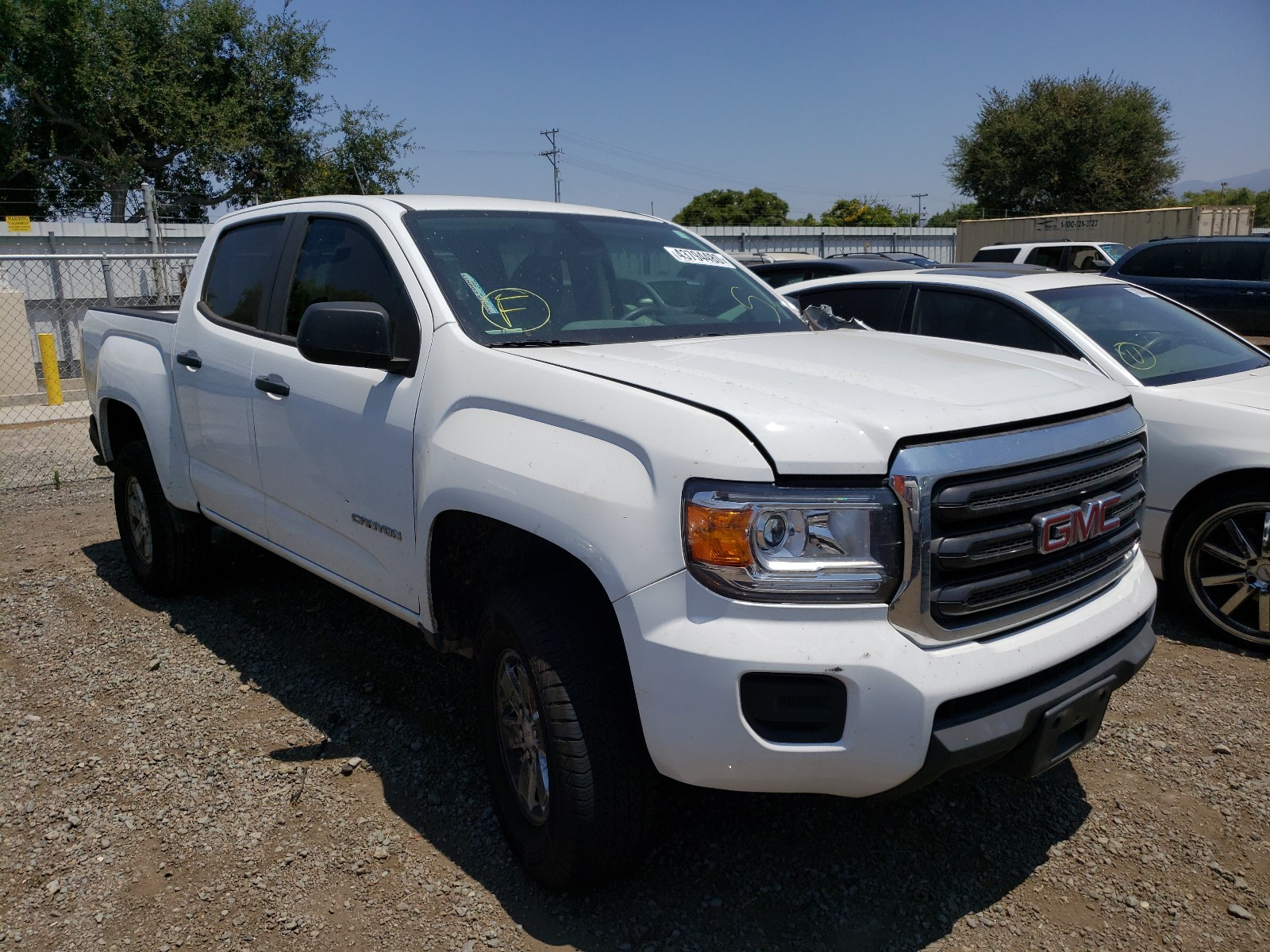 2018 gmc canyon for sale at copart san diego ca lot 43794480 salvagereseller com salvagereseller com