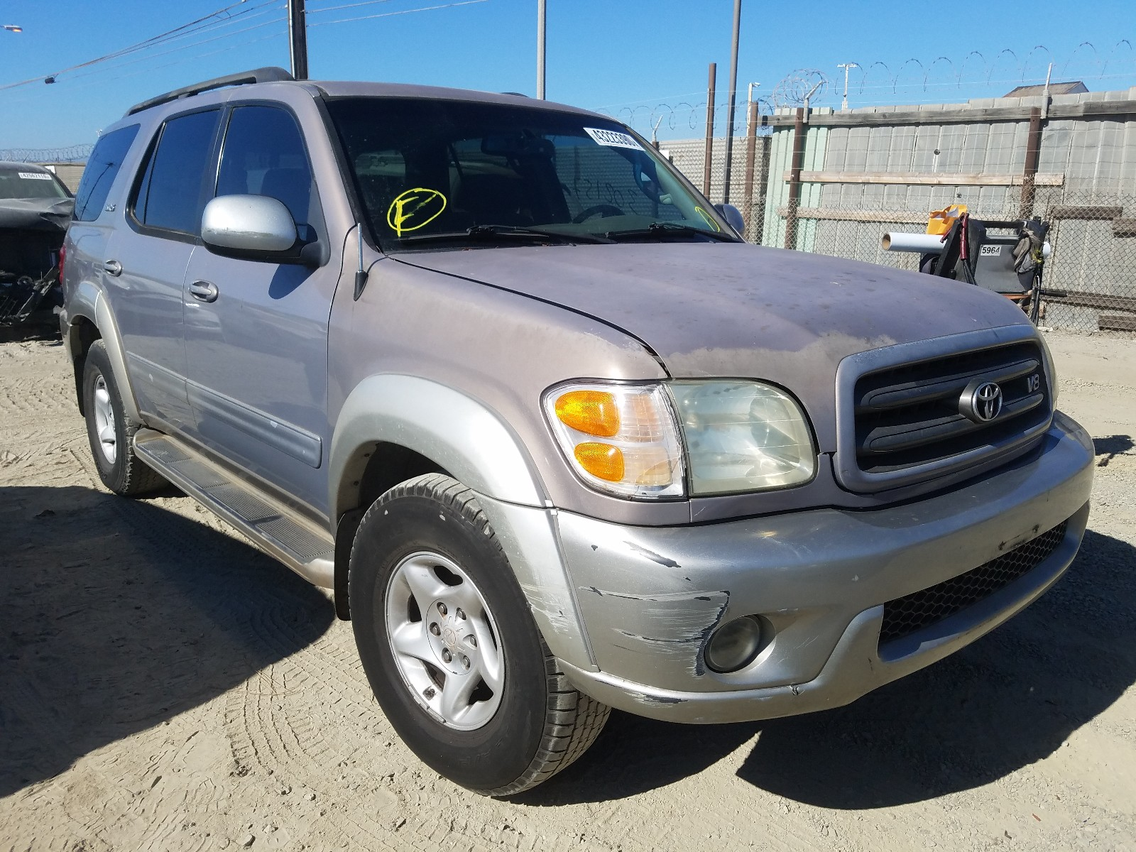 2002 toyota sequoia sr for sale at copart los angeles ca lot 43223390 salvagereseller com salvagereseller com