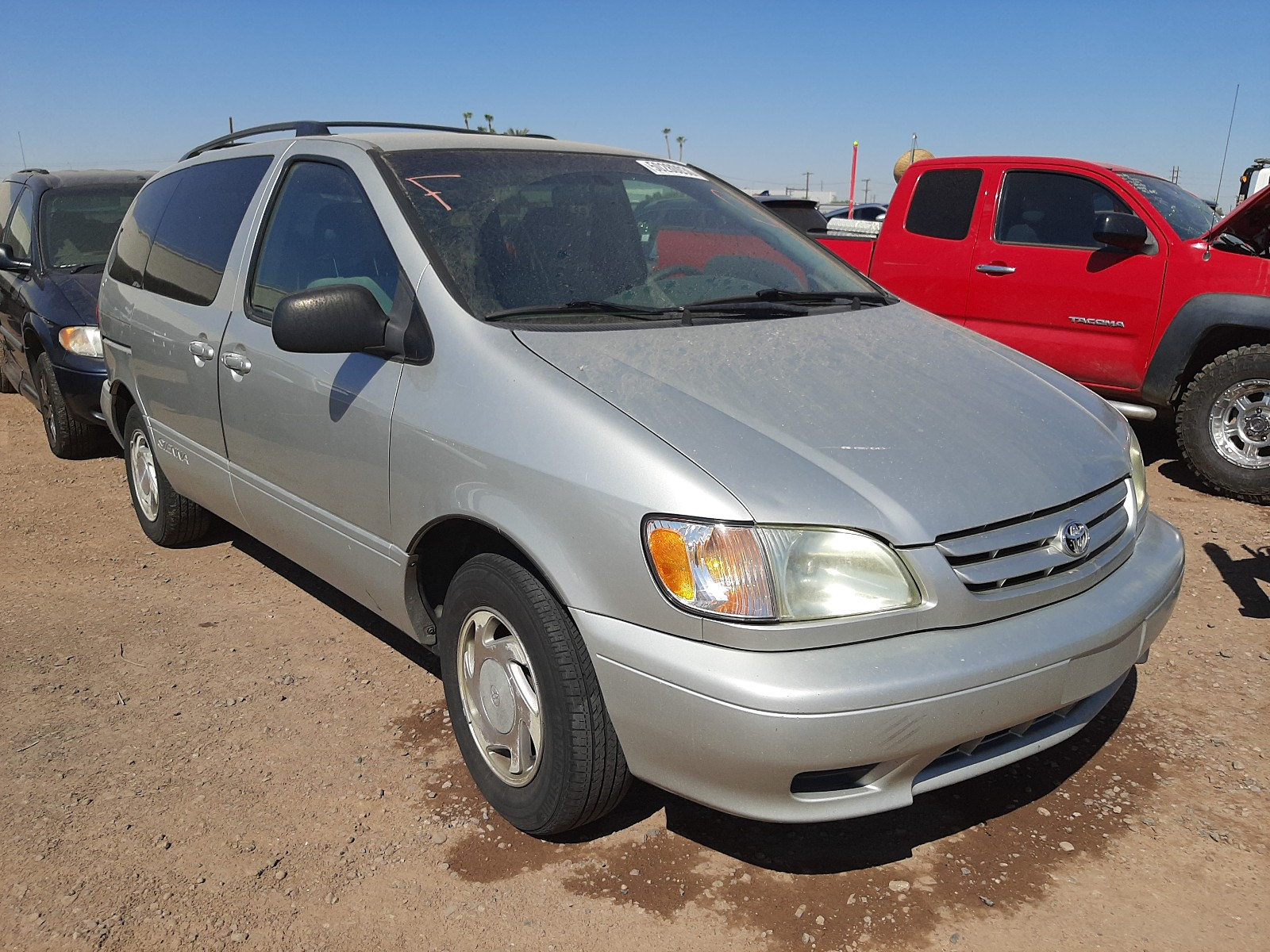 2003 toyota sienna le for sale at copart phoenix az lot 50280030 salvagereseller com salvagereseller com