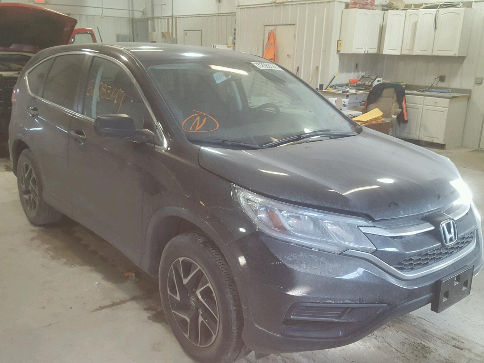 Auto Auction Ended on VIN 5J6RM4H43GL 2016 HONDA CR V SE in