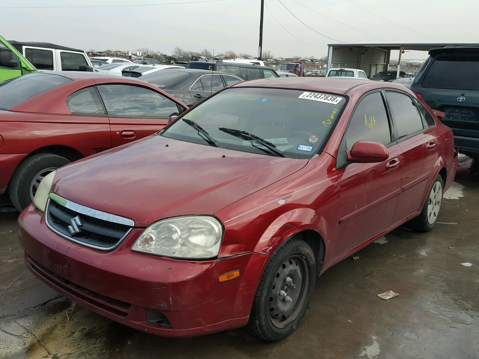 2007 Suzuki Forenza Red
