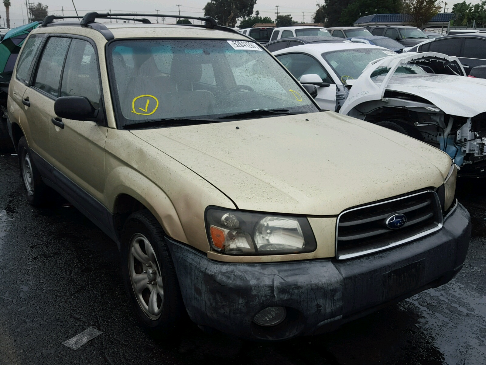 Auto Auction Ended on VIN JF1SG H 2003 SUBARU FORESTER 2