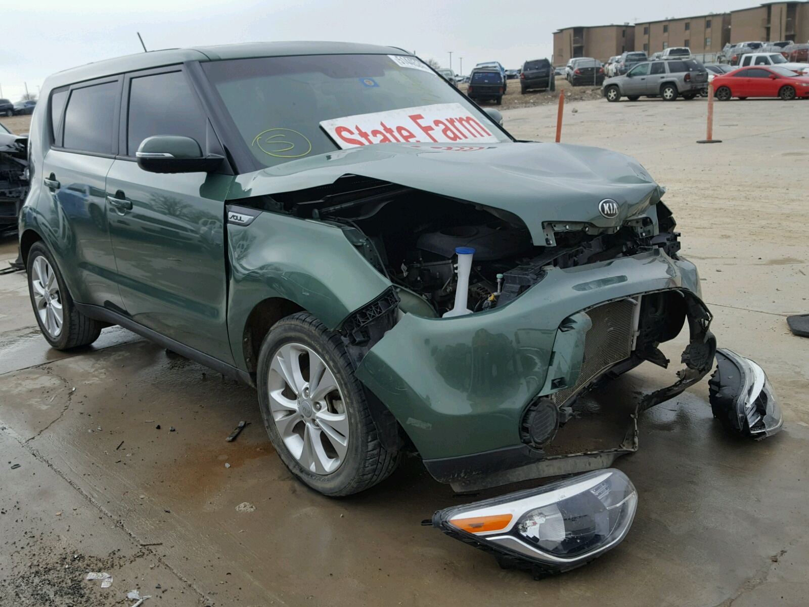 en kia vehicle salvage tx view copart carfinder on online sedona auto in left dallas sale lot auctions white title lx