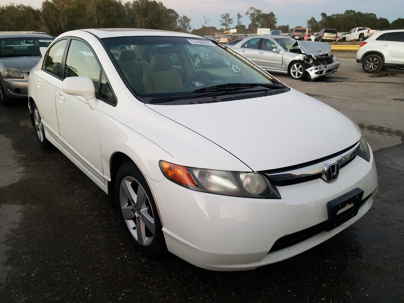 2008 Honda Civic Ex For Sale At Copart Riverview Fl Lot 57486600 Salvagereseller Com