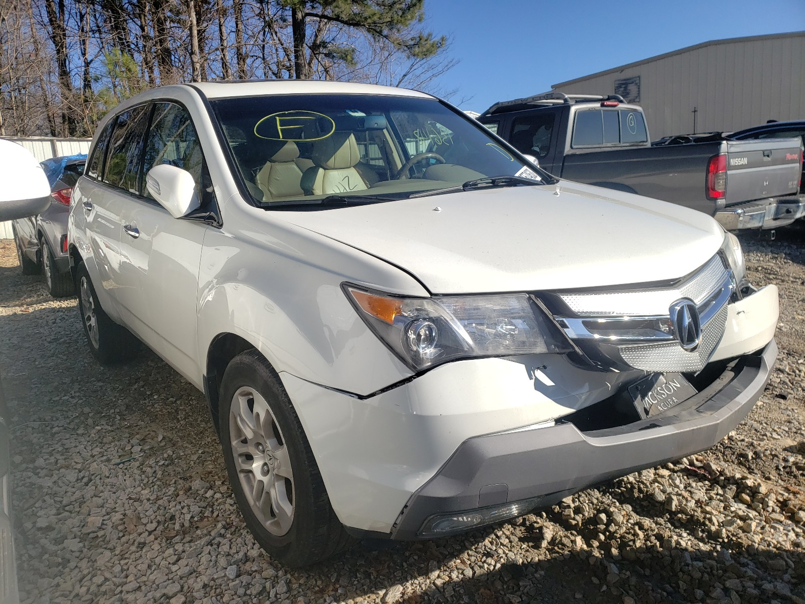 2009 Acura Mdx For Sale At Copart Gainesville Ga Lot 60574630 Salvagereseller Com