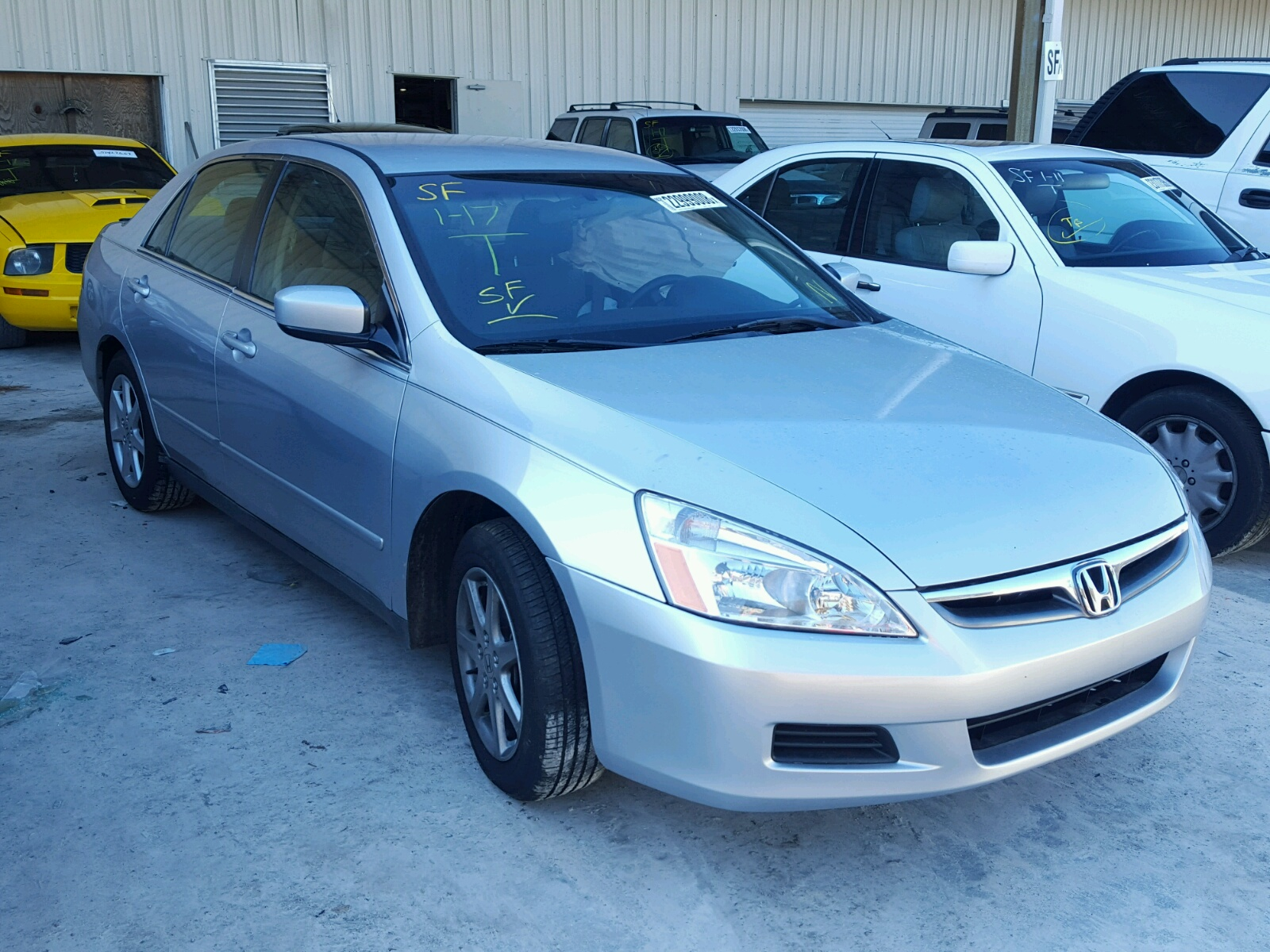 Auto Auction Ended on VIN 1HGCM A 2007 HONDA ACCORD LX in