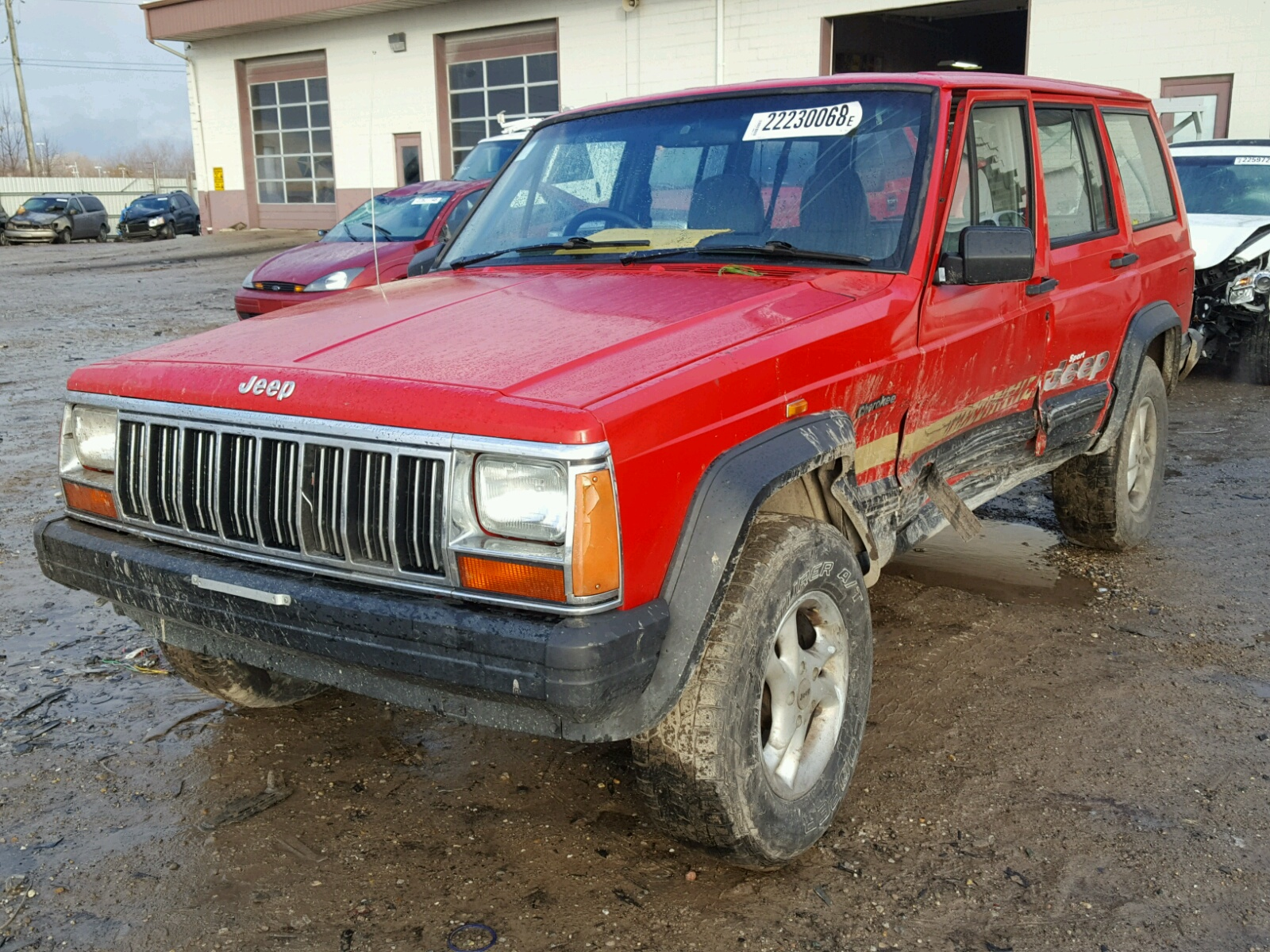 1j4fn68s2tl220855 1996 Red Jeep Cherokee S On Sale In In Indianapolis Lot 22230068