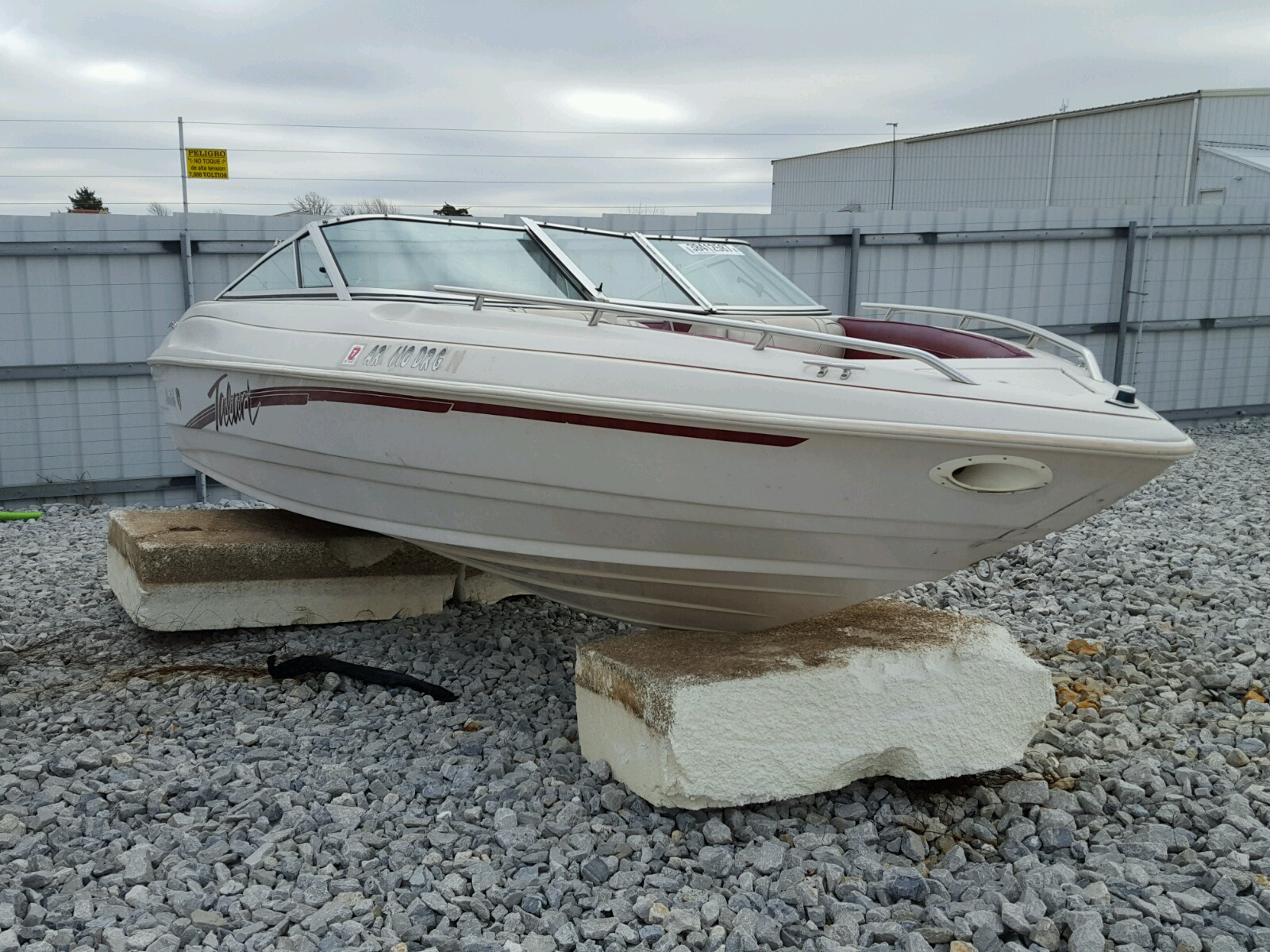 Salvage 1996 Boat MARINE TRAILER for sale