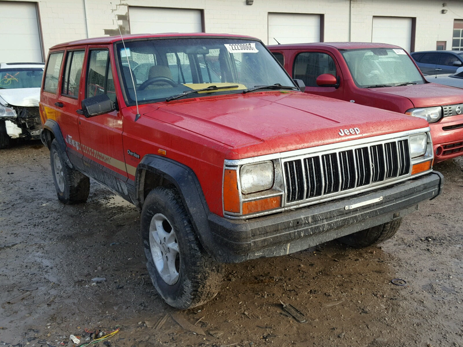 Copart Home Page >> 1J4FN68S2TL220855 | 1996 RED JEEP CHEROKEE S on Sale in IN - INDIANAPOLIS | Lot 22230068