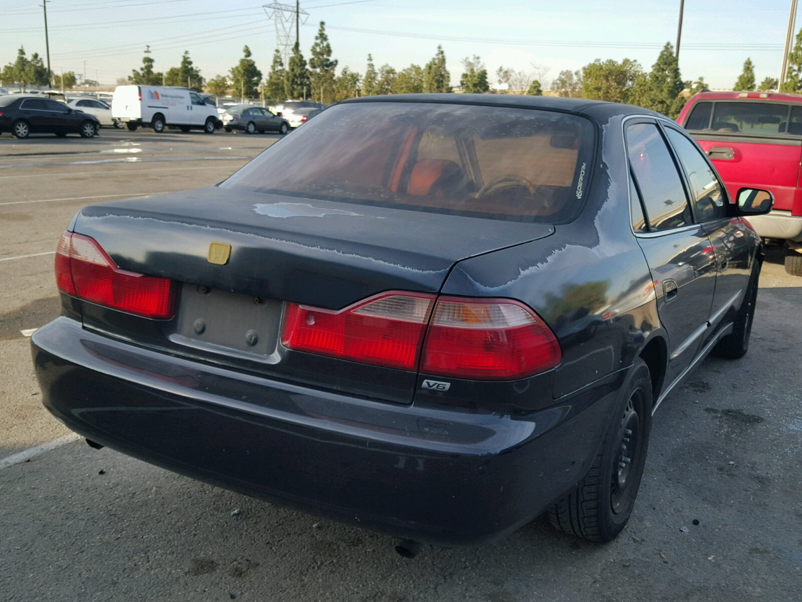 1999 Honda Accord Ex Front End Damage 1hgcg1659xa047485 Sold Coupe V6 4