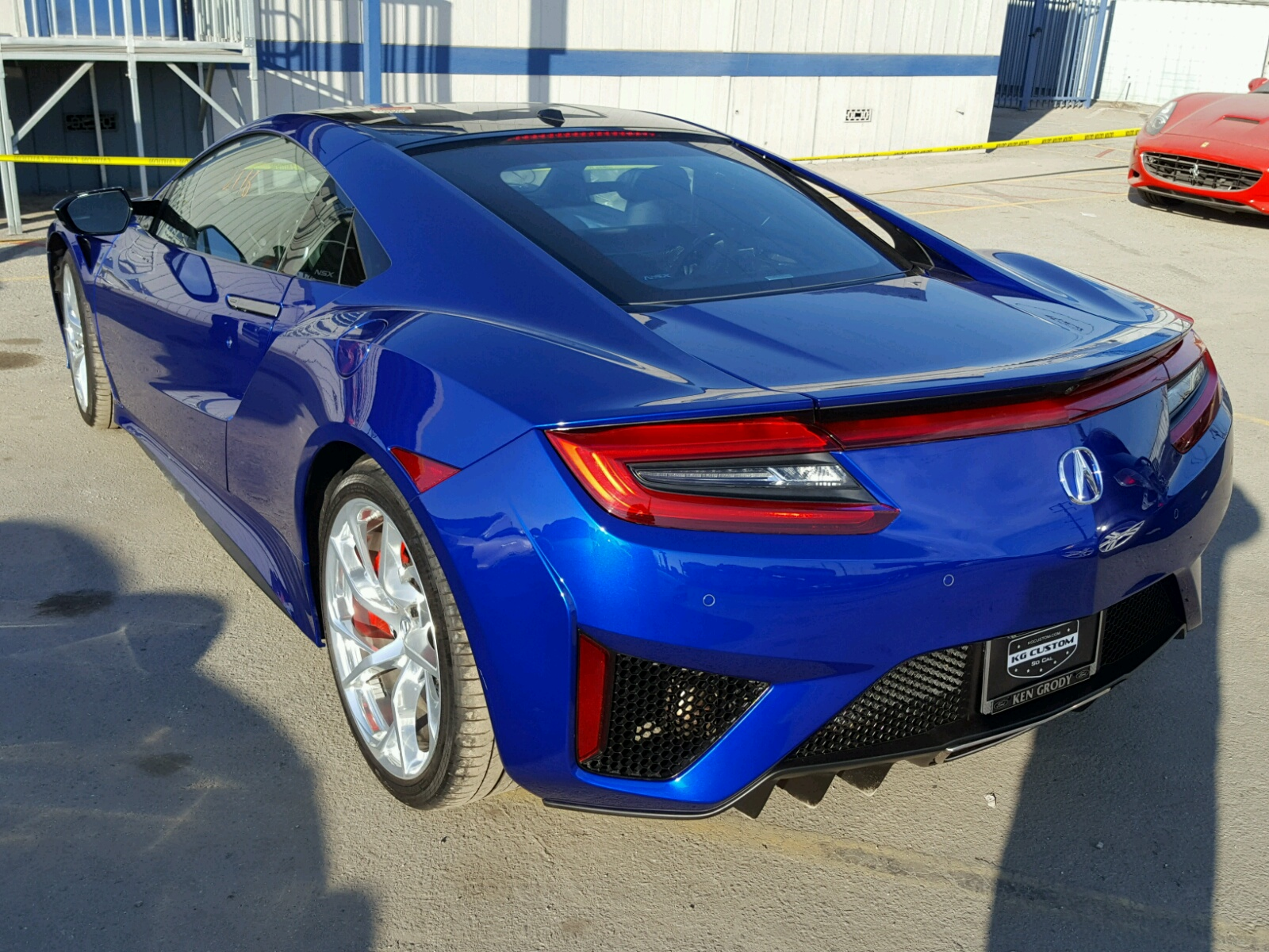 2017 acura nsx for sale at copart los angeles ca lot 25126488. Black Bedroom Furniture Sets. Home Design Ideas