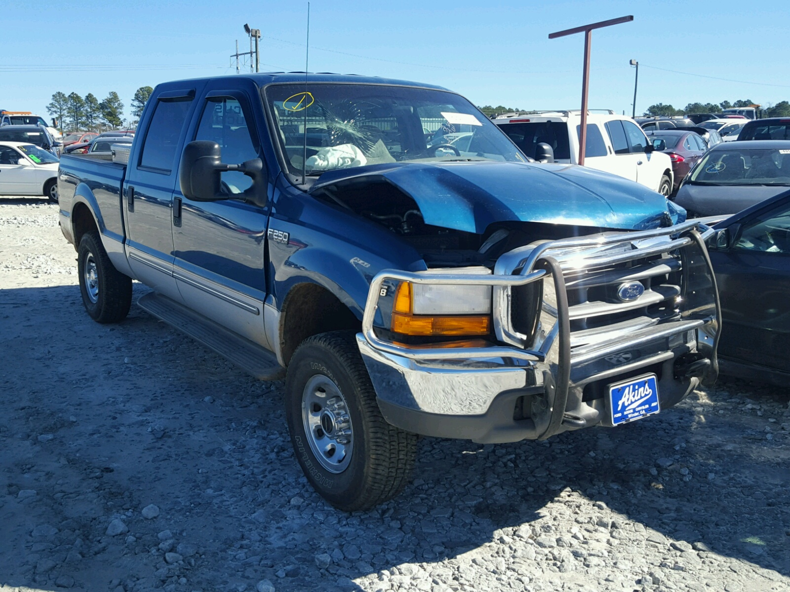 1ftnf20l0yed10514 2000 White Ford F250 Super On Sale In Ca F 250 Duty 54l