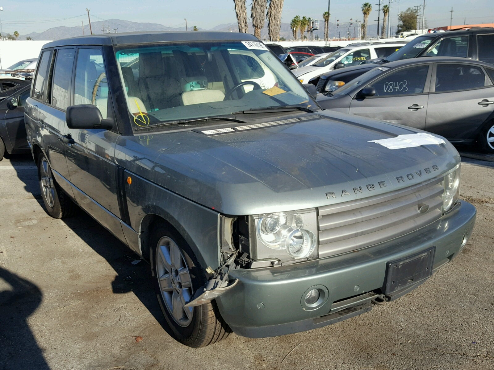 Auto Auction Ended on VIN SALME A 2003 LAND ROVER RANGE
