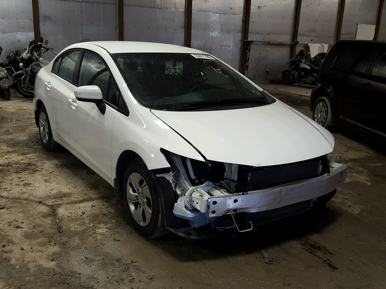 Auto Auction Ended on VIN 2HGFB2F50FH 2015 HONDA CIVIC LX in