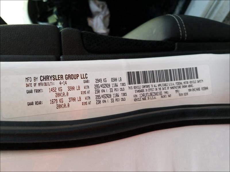 1C4RJFDJ9EC502165 2014 JEEP GRAND CHEROKEE SRT-8