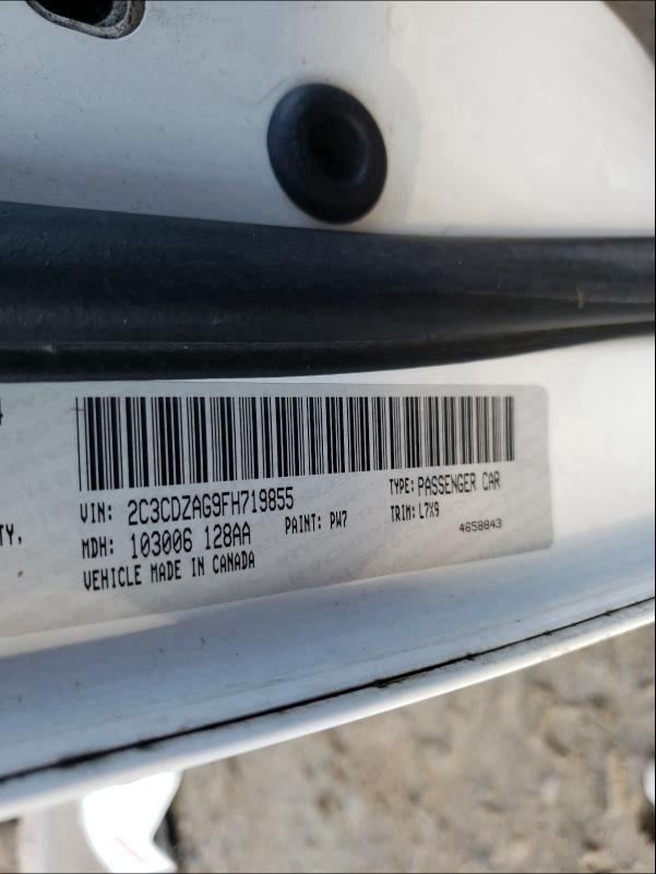 2C3CDZAG9FH719855 2015 Dodge Challenger 3.6L