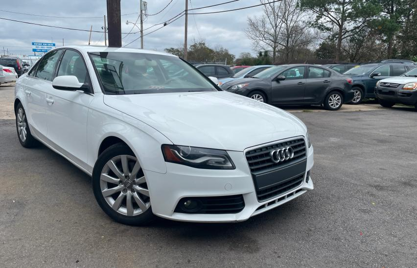 Salvage cars for sale from Copart New Orleans, LA: 2012 Audi A4 Premium