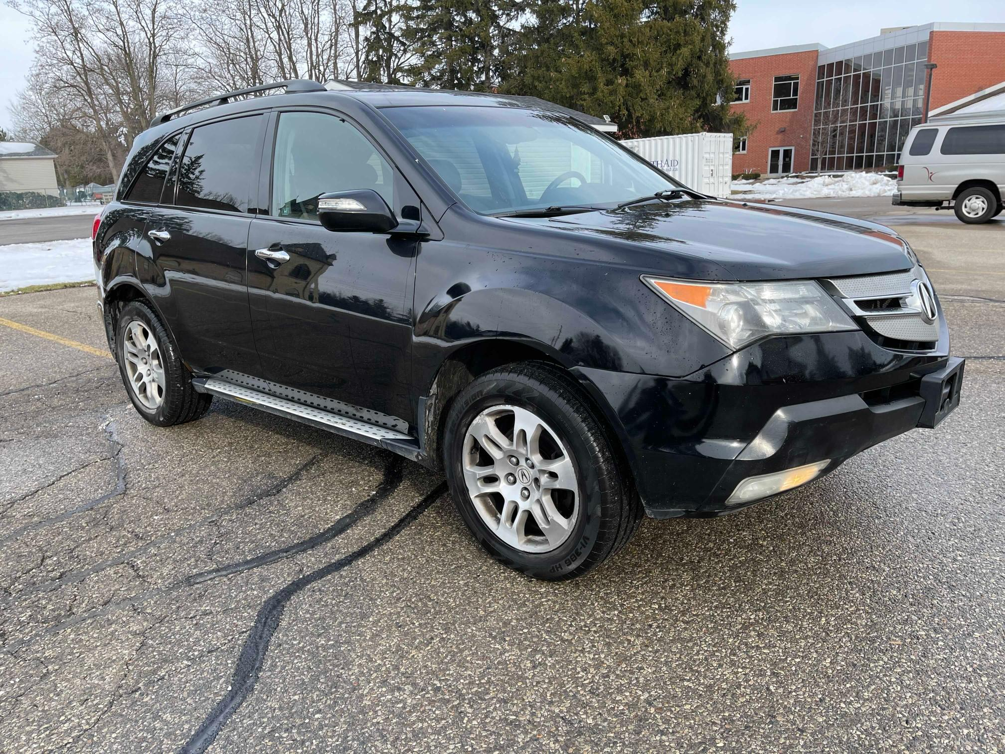Salvage cars for sale from Copart Courtice, ON: 2008 Acura MDX Techno