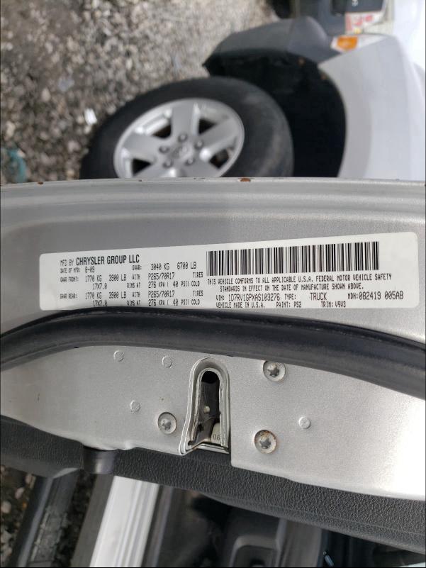 2010 DODGE RAM 1500 1D7RV1GPXAS103276