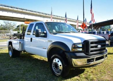 Salvage cars for sale from Copart Miami, FL: 2007 Ford F550 Super