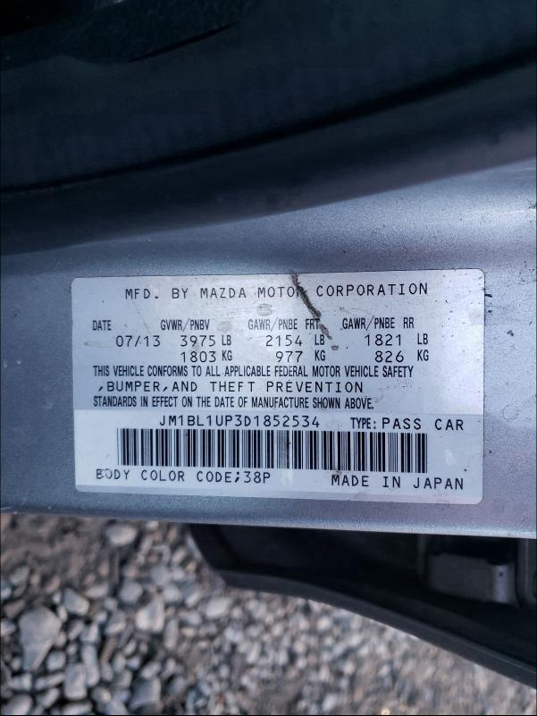 2013 MAZDA 3 I JM1BL1UP3D1852534