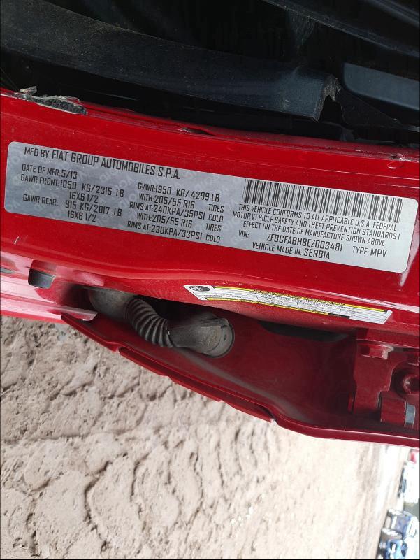 2014 Fiat 500L | Vin: ZFBCFABH8EZ003481