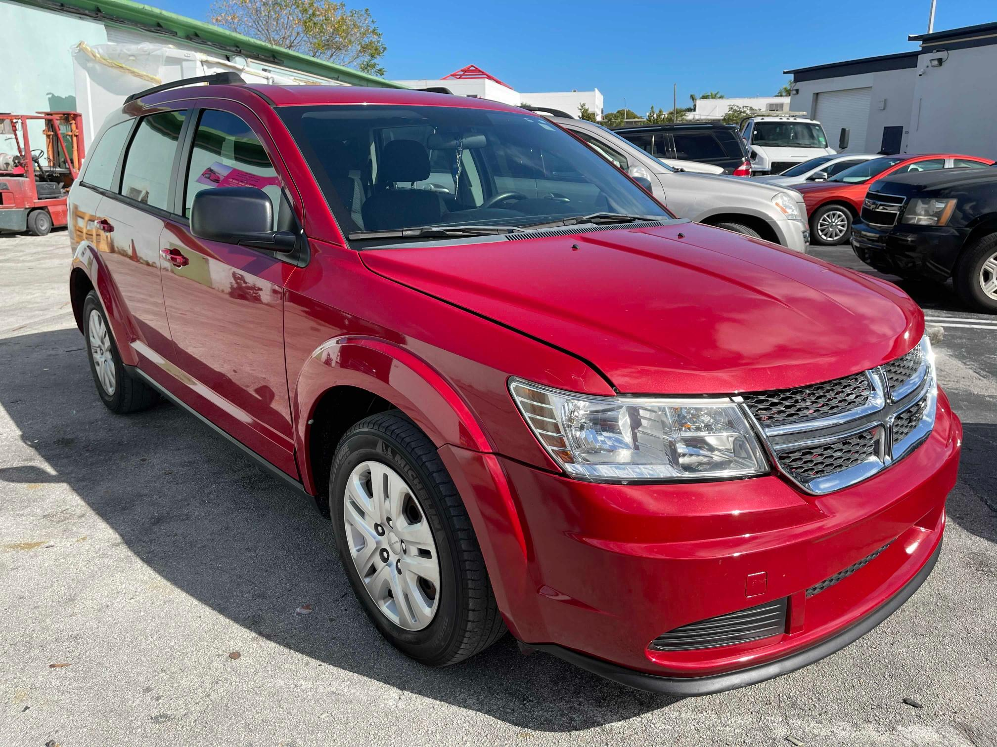 Salvage cars for sale from Copart Homestead, FL: 2016 Dodge Journey SE
