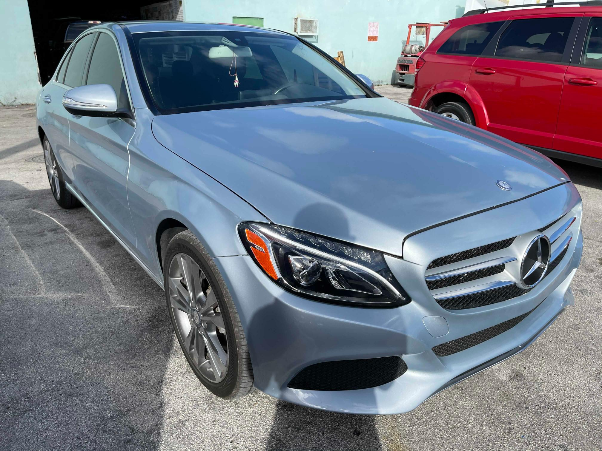 Salvage cars for sale from Copart Homestead, FL: 2015 Mercedes-Benz C300