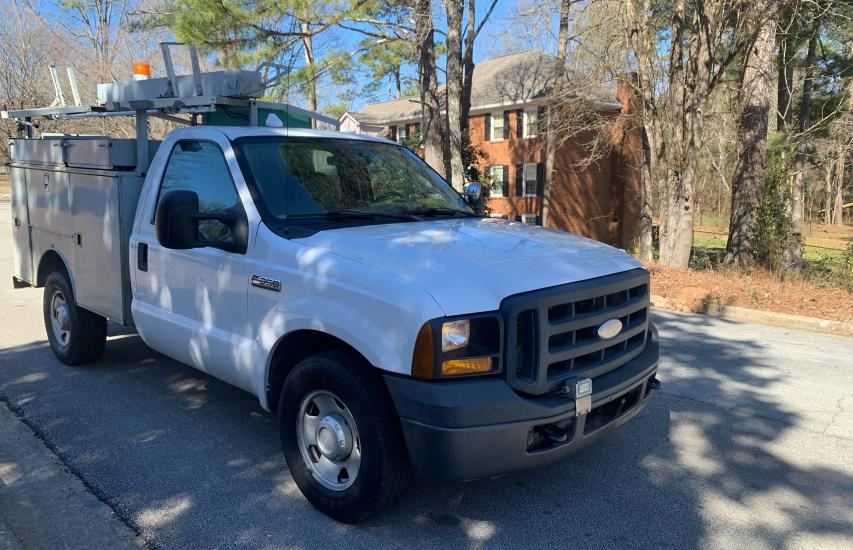 Salvage cars for sale from Copart Loganville, GA: 2006 Ford F350 SRW S