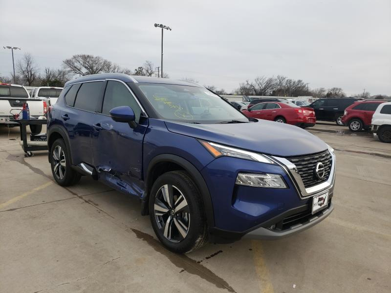Nissan salvage cars for sale: 2021 Nissan Rogue SL