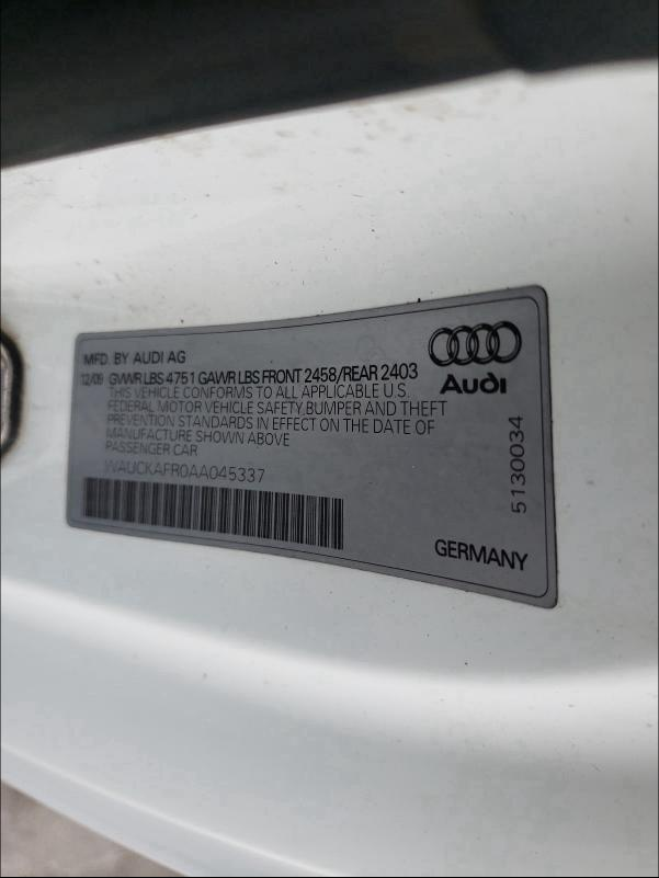 2010 Audi A5 | Vin: WAUCKAFR0AA045337