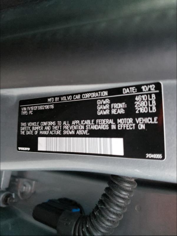 2013 VOLVO S60 T5 YV1612FS9D2196116