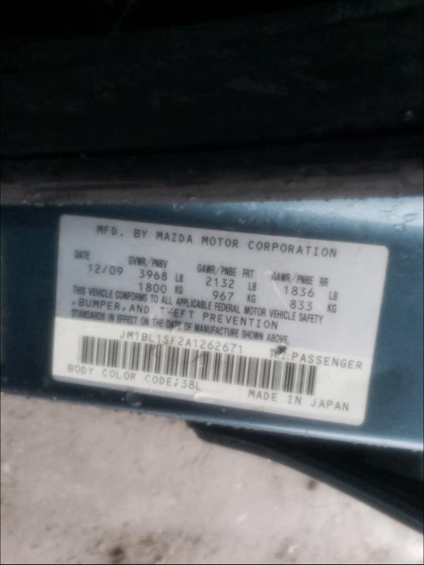 2010 MAZDA 3 I JM1BL1SF2A1262671