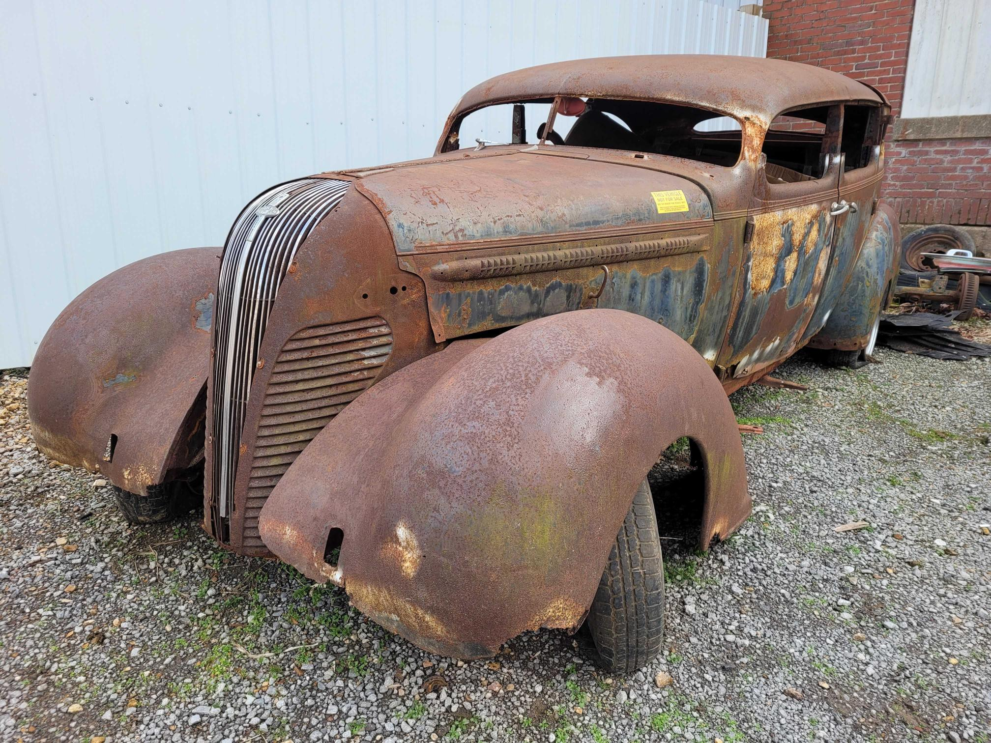 Salvage cars for sale from Copart Lebanon, TN: 1937 Huds Terraplane