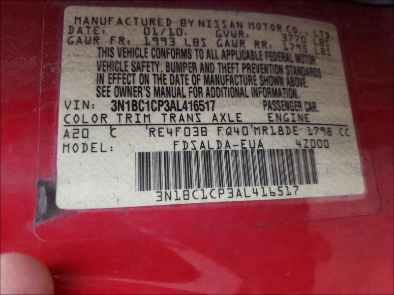 2010 NISSAN VERSA S 3N1BC1CP3AL416517