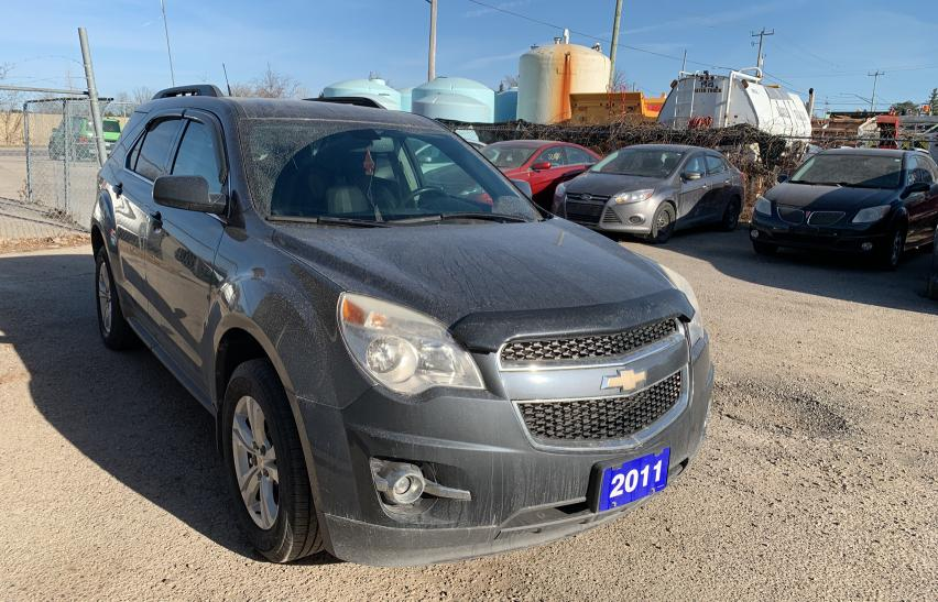 Salvage cars for sale from Copart London, ON: 2011 Chevrolet Equinox LT