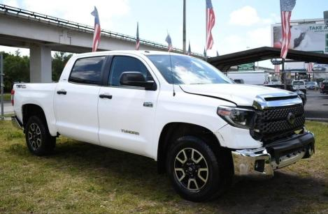 Salvage cars for sale from Copart Homestead, FL: 2019 Toyota Tundra CRE